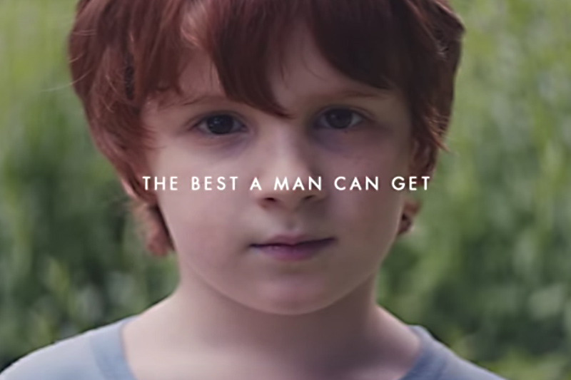 Fragment reklamy marki Gillette
