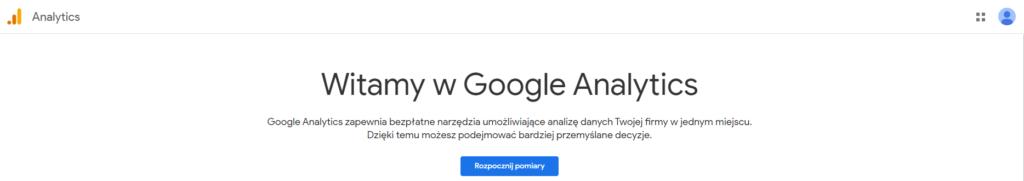 Witaj wGoogle Analytics