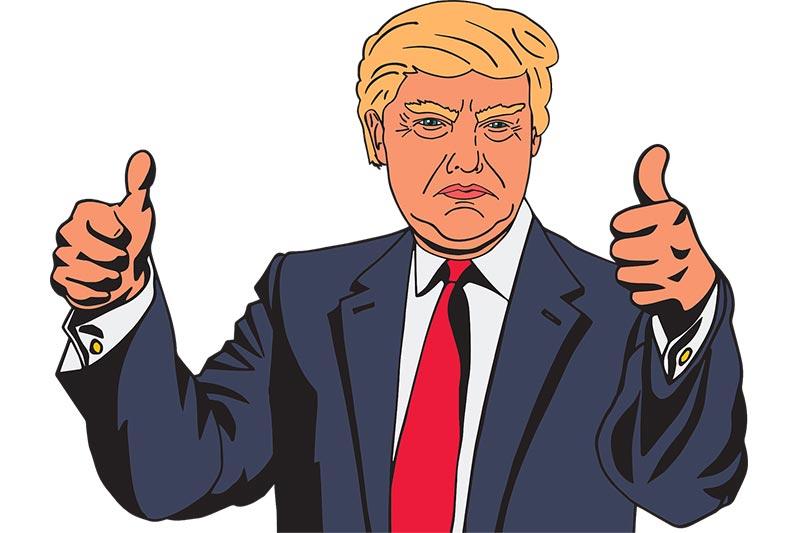 Blokadzie kont społecznościowych Donalda Trumpa.